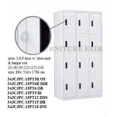 Locker 12 Doors 34JCJPC15PT-12 DDS