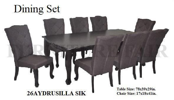 Dining Set 26AYDRUSILLA SIK