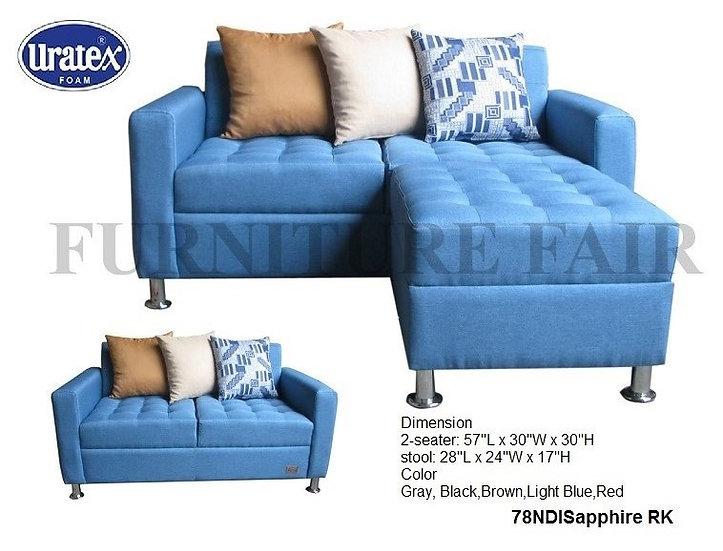 Sofa 2 Seater 78NDISAPPHIRE RK