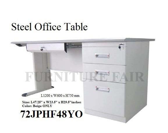 Steel Office Table 72JPLF48 YO