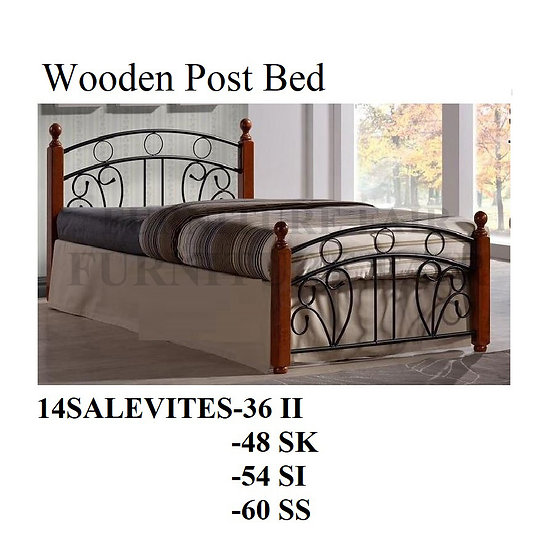 Wooden Post Bed 14SALEVITES-36II 48SK 54SI 60SS