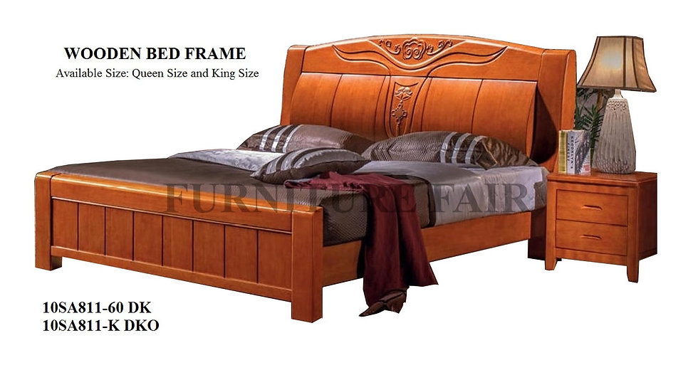 Wooden Bed Frame Queen Size 10SA811-60 DK