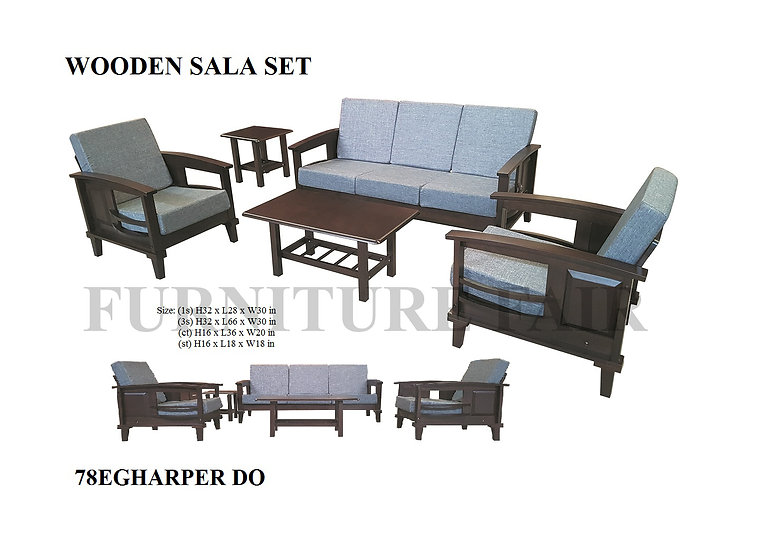 Wooden Sala Set 78EGHARPER DO