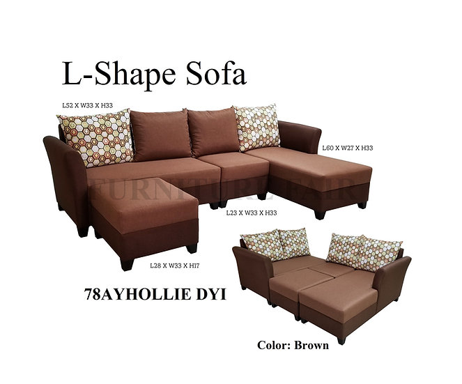 L-Type Sofa 78AYHOLLIE DYI