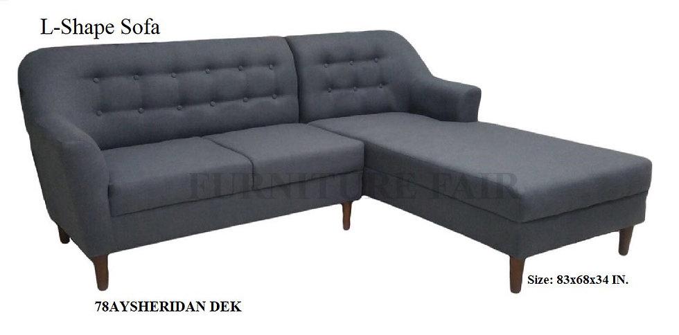 L-Shape Sofa 78AYSHERIDAN DEK