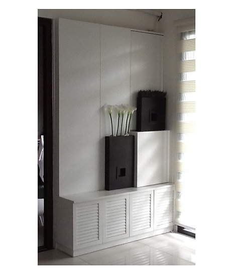 Wall Panel Shoe Cabinet with Key Holder (made-to-order)