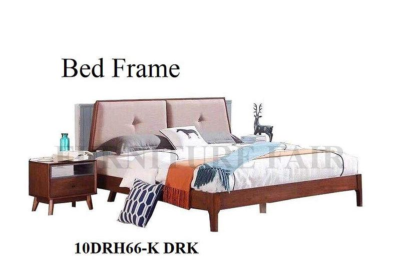 Wooden BedFrame 10DRH66-K DRK