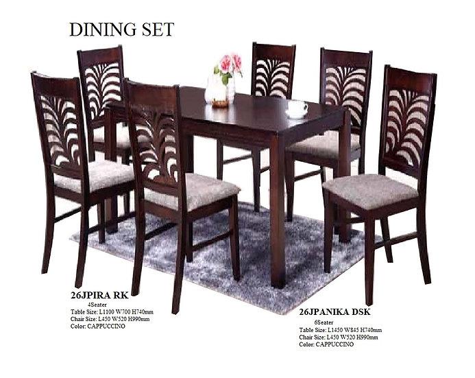 Dining Set 26JPANIKA-4RE 6-DND