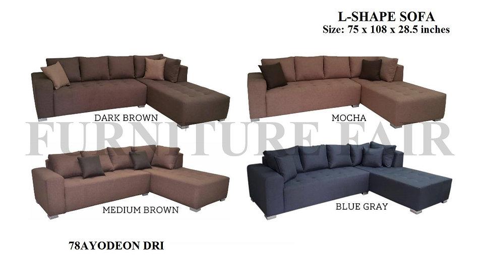 L-Shape Sofa 78AYODEON DRI