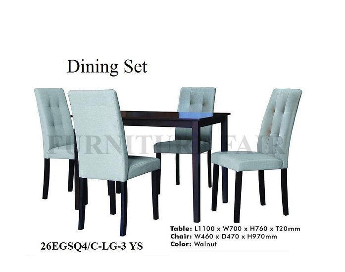 Dining Set 26EGSQ4/CLG3 YS