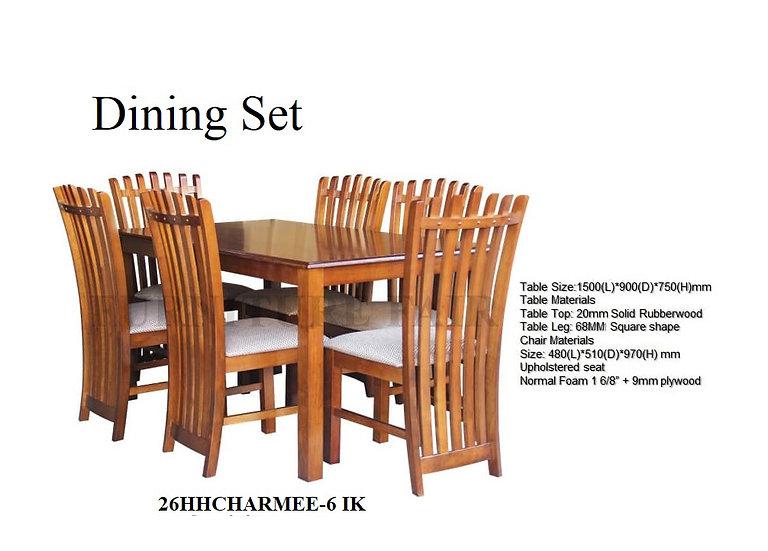 Dining Set 26HHCHARMEE-6 IK