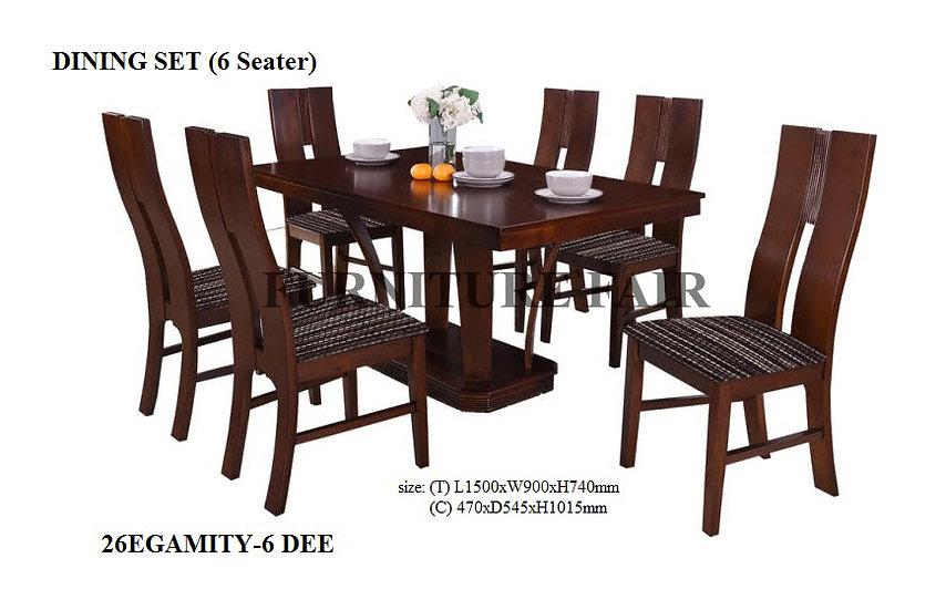 Dining Set 26EGAMITY-6 DEE