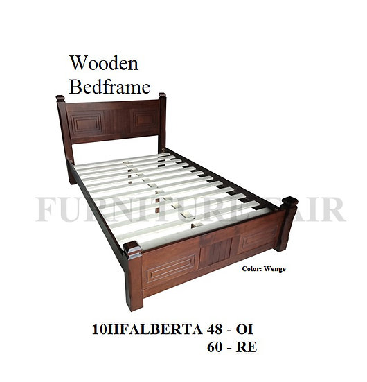 Wooden Bedframe 10HFALBERTA 48OI 60RE