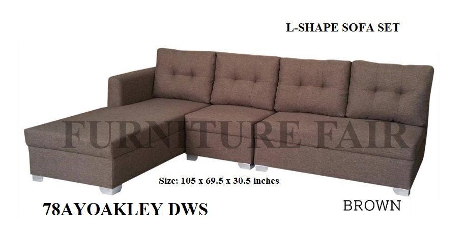 L-Shape Sofa 78AYOAKLEY DWS