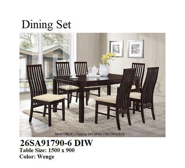 Dining Set 26SA91790-6 DIW