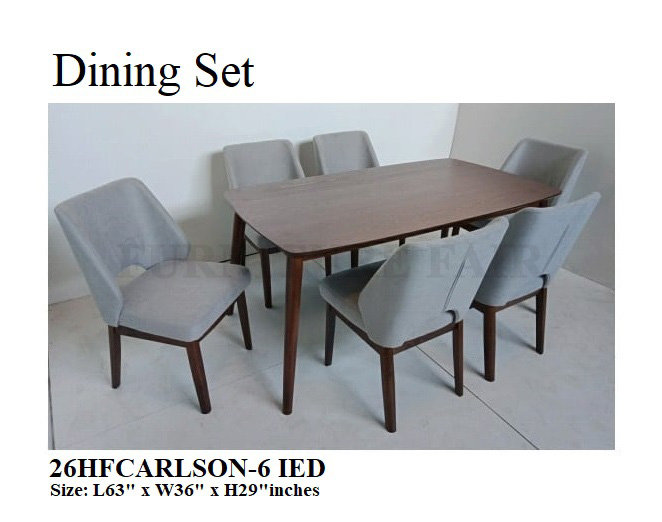 Dining Set 26HFCARLSON-6 IED