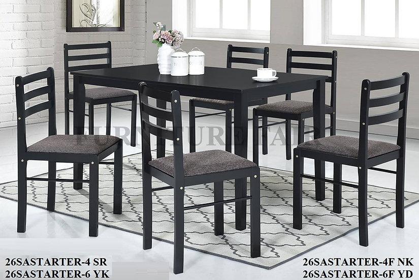 Dining Set 26SASTARTER-4SR 6YK 4F-NK 6F-YD