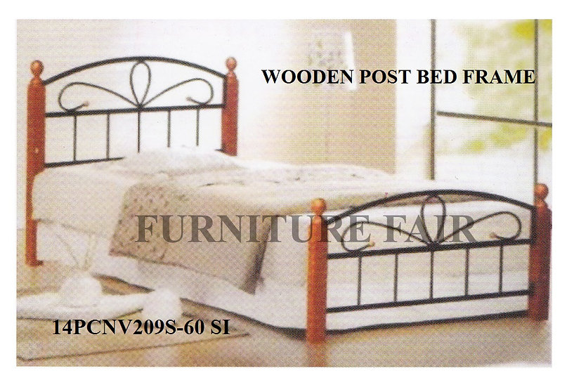Wooden Post Bed Frame 14PCNW209S-60 SI