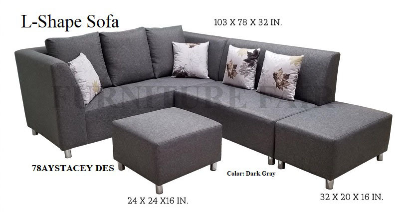 L-Shape Sofa 78AYSTACEY DES