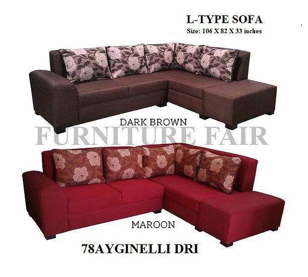 L-Shape Sofa 78AYGINELLI DRI