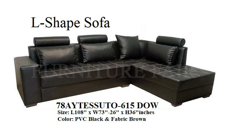 L-Shape Sofa 78AYTESSUTO-615 DOW