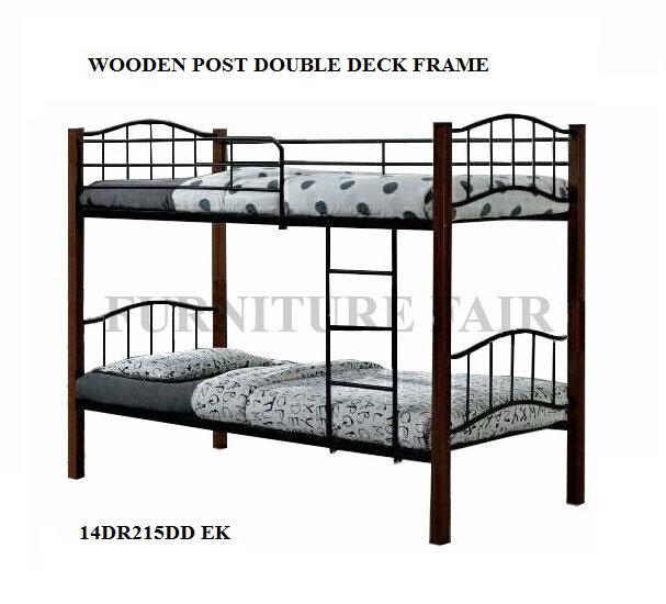 Double Deck Wooden Post Size 36x36x75 14DR215DD EK