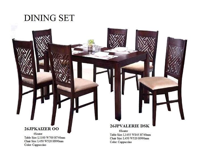 Dining Set 26JPVALERIE DSK