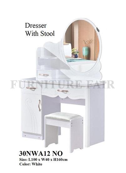 Dresser With Stool 30NWA12 NO