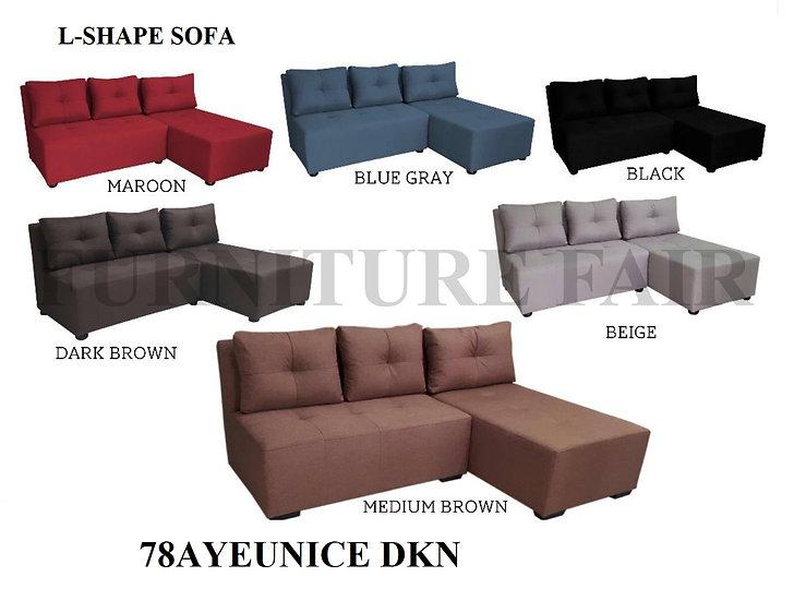 L-Shape Sofa 78AYEUNICE DKN