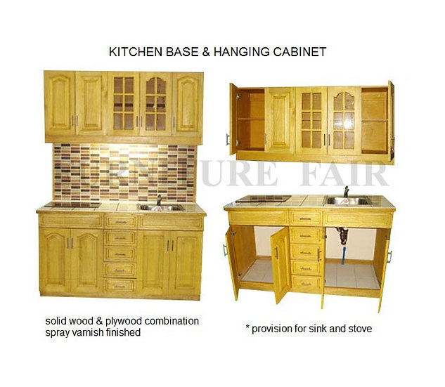 Kitchen Base & Hanging Cabinet (made-to-order)