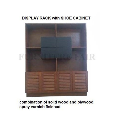 Display Rack with Shoe Cabinet (made-to-order)
