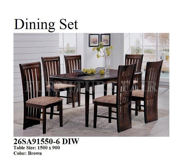 Dining Set 26SA91550-6 DIW