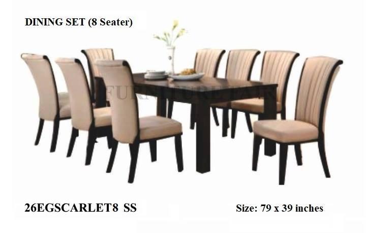 Dining Set 26EGSCARLET8 SE