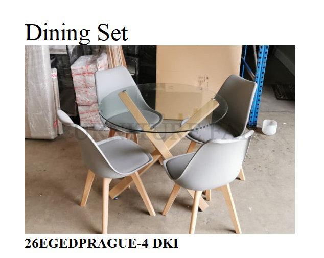 Dining Set 26EGEDPRAGUE-4 DKI