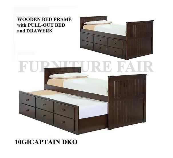 Wooden Bedframe 10GICAPTAIN-36 DKO