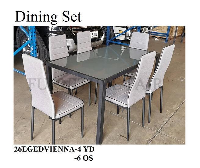 Dining Set 26EGEDVIENNA-4YD 6OS