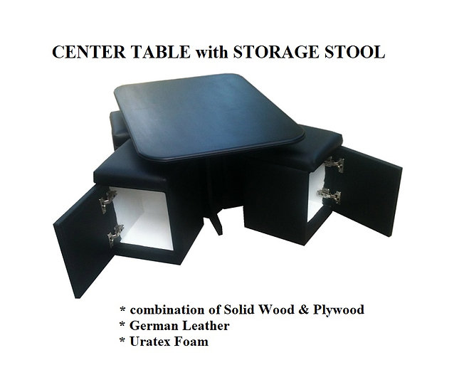 Center Table with Storage Stool