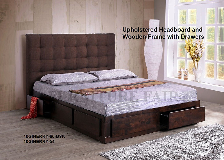 Upholstered Bedframe 10GIHERRY-60 DYK