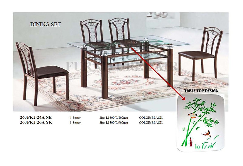 Dining Set with Table Top Design 26JPKJ24A NE