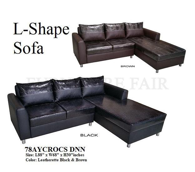 L-Shape Sofa 78AYCROCS DNN
