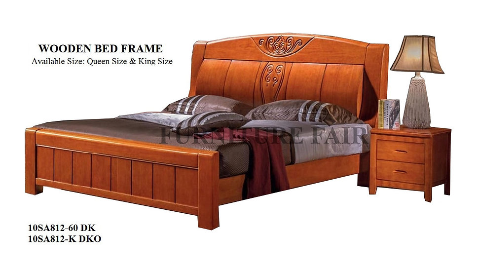 Wooden Bed Frame Queen Size 10SA812-60 DK