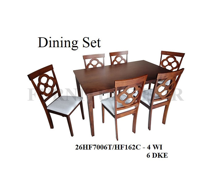 Dining Set 26HF7006T/162C 4WI 6DKE