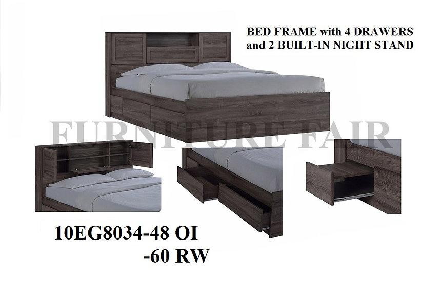 Bed Frame Double Size 10EG8034-48OI 60RW