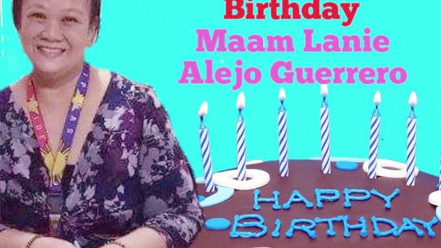 Happy Birthday Ma'am Lanie 2k19