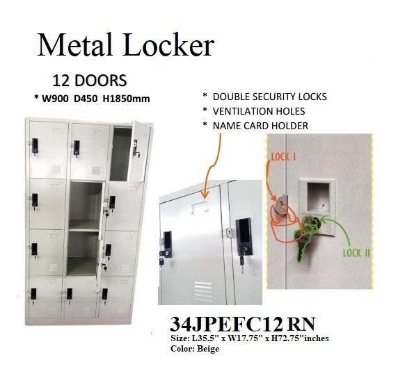Steel Lockers 34JPEFC12 RN