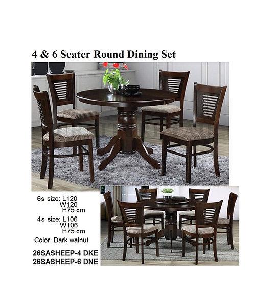 Round Dining Set 26SASHEEP-4DKE 6DNE
