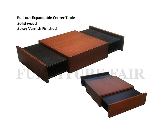 Pull-out Expandable Center Table (made-to-order)