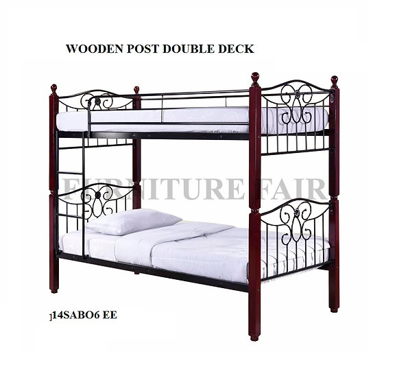 Double Deck Wooden Post Size 36x36x75 14SAB06 NO