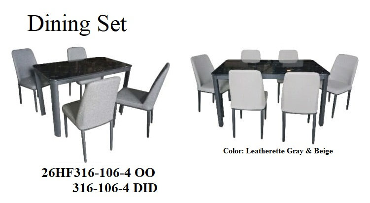 Dining Set 26HF316-106-4 OO 6DID