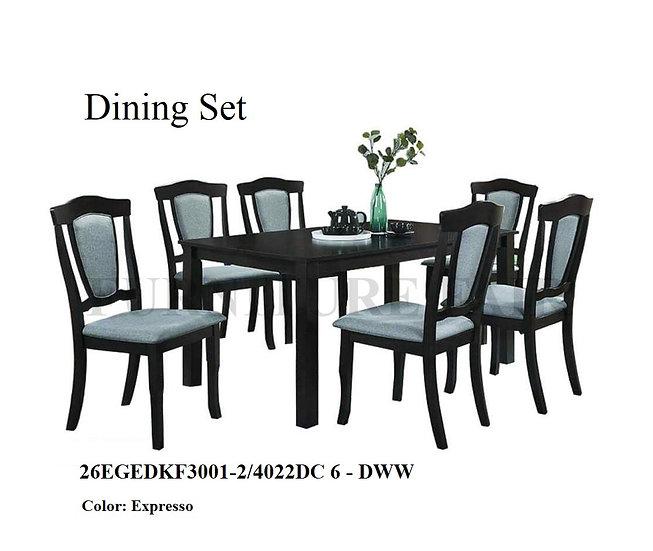 Dining Set 26EGKF3001-2/4022DC DWW